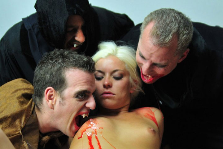 Vampire Group Sex with Goth Teen